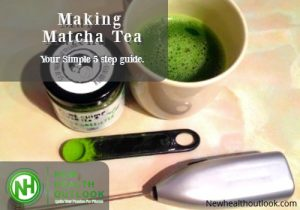 Matcha making tea feature
